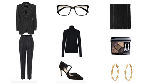 Eyewear, Black, Clothing, Fashion, Black-and-white, Glasses, Footwear, Fashion illustration, Fashion design, Little black dress,