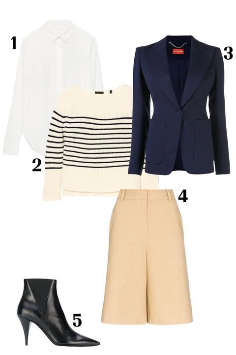 Clothing, White, Suit, Outerwear, Formal wear, Footwear, Blazer, Jacket, Beige, Fashion,