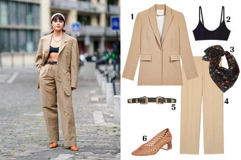 Clothing, Street fashion, Fashion, Outerwear, Footwear, Suit, Blazer, Shoe, Fashion design, Trousers,