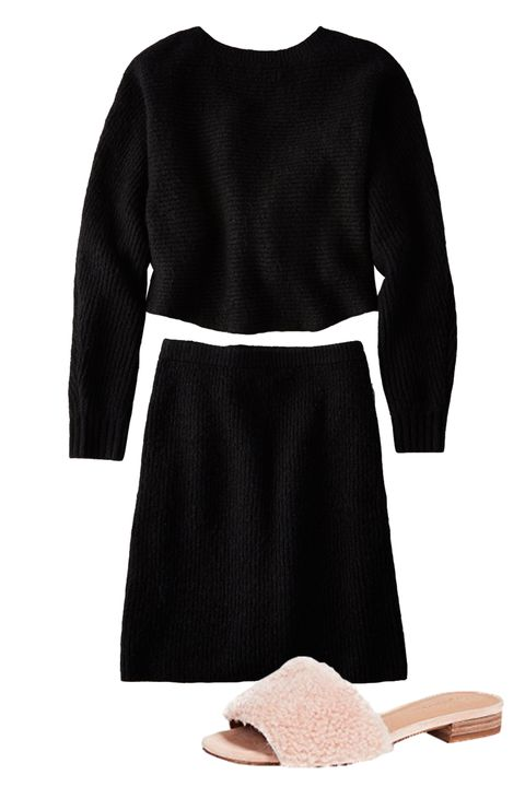 Clothing, Black, Sleeve, Dress, Footwear, Little black dress, Neck, Crop top, Robe, Cocktail dress,