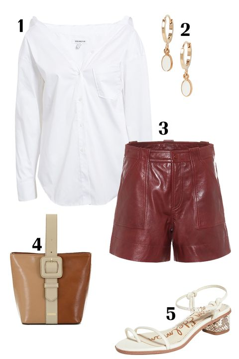 White, Clothing, Brown, Shorts, Footwear, Fashion, Shoe, Beige, Jeans, Trousers,