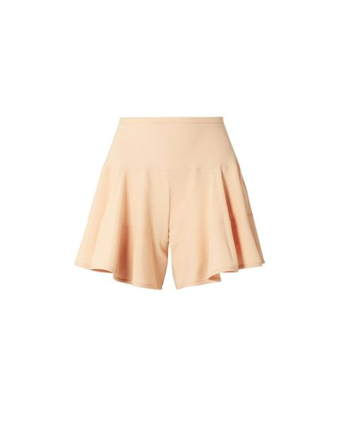 Clothing, Yellow, Beige, Shorts, A-line, Orange, Waist, Skort, Peach, Neck,
