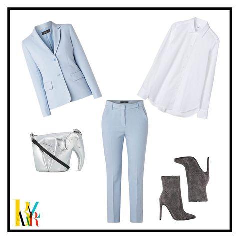 White, Clothing, Outerwear, Footwear, Design, Jeans, Blazer, Formal wear, Denim, Pattern,