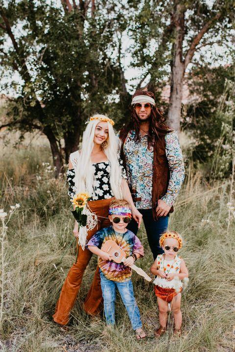 lauren parry and family hippie halloween costumes
