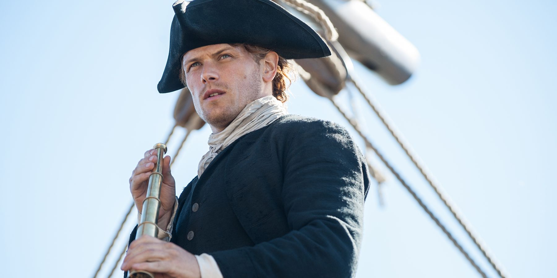 Sam Heughan as Jamie Fraser Outlander