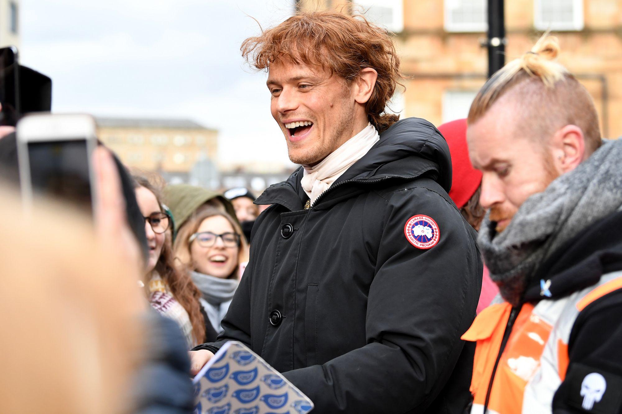 Sam Heughan filming Outlander Season 4