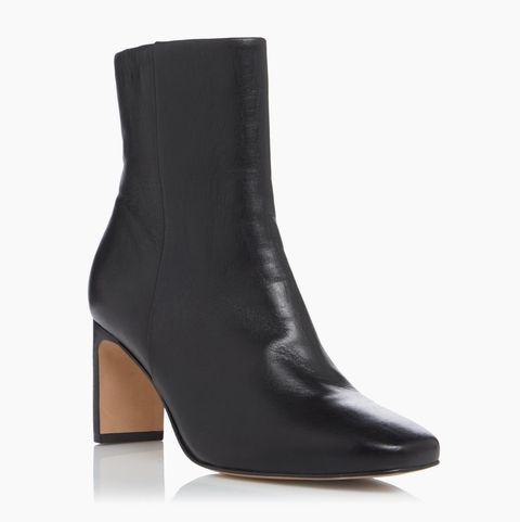 dune outshine   black refined square toe ankle boots