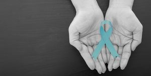 Ovarian cancer Green ribbon