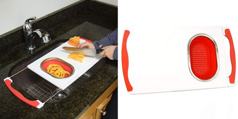 Countertop, Kitchen, Room, Sink, Food, Microwave oven, Fast food, Rectangle, Kitchen appliance, Cuisine,