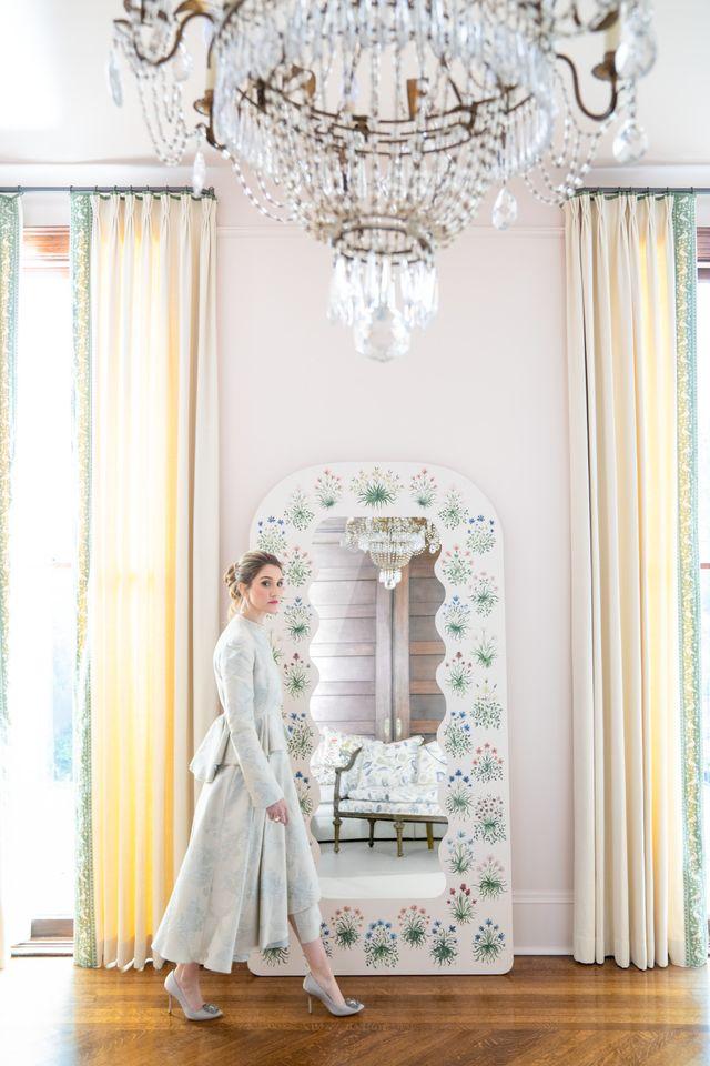 riley sheehey x fleur home floral mirrors