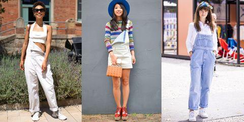denim overalls street style