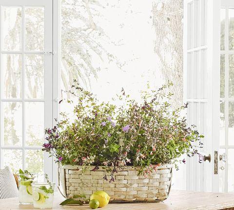 oversized basket easter floral centerpiece