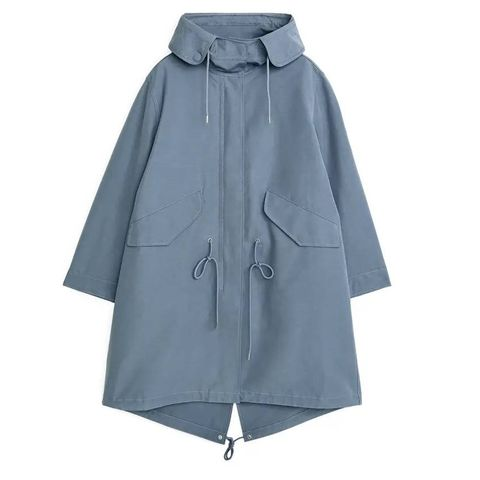 oversized fishtail parka arket