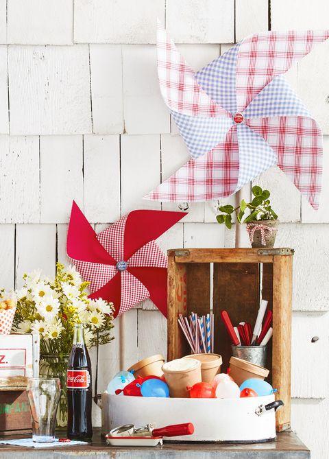 diy fabric pinwheels 4th of july