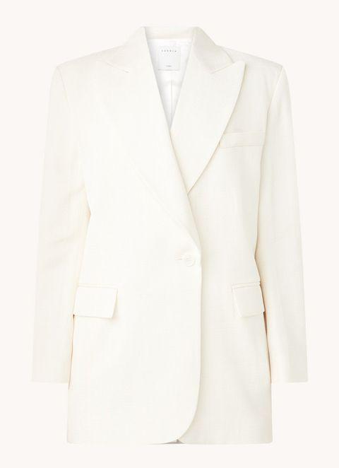 oversized witte blazer sandro bijenkorf