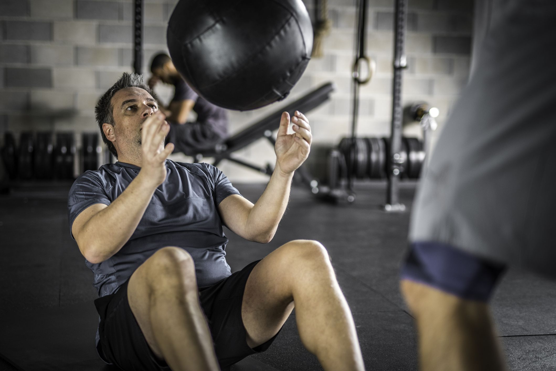 This Simple Core-Shredding Med Ball Workout Is Great for Men Over 40