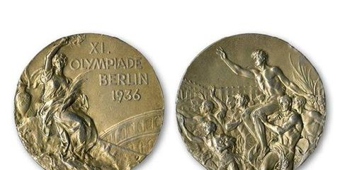 One of Jesse Owens' gold medals from the 1936 Olympics