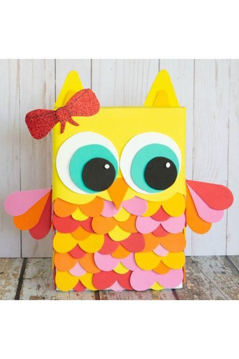 owl valentine's day mailbox