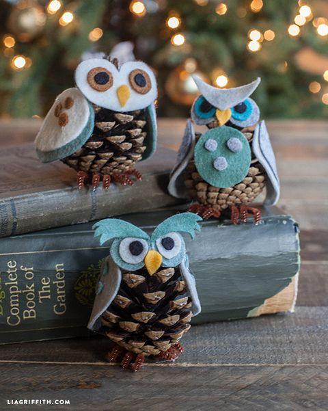 owl pine cone crafts
