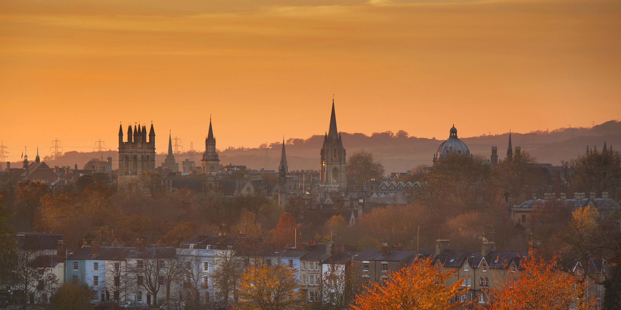Oxford Spires in golden light, Skyline de Oxford en otoño