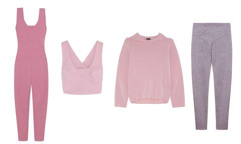 Clothing, Pink, Outerwear, Footwear, Trousers, Sleeve, Sportswear, Jeans,