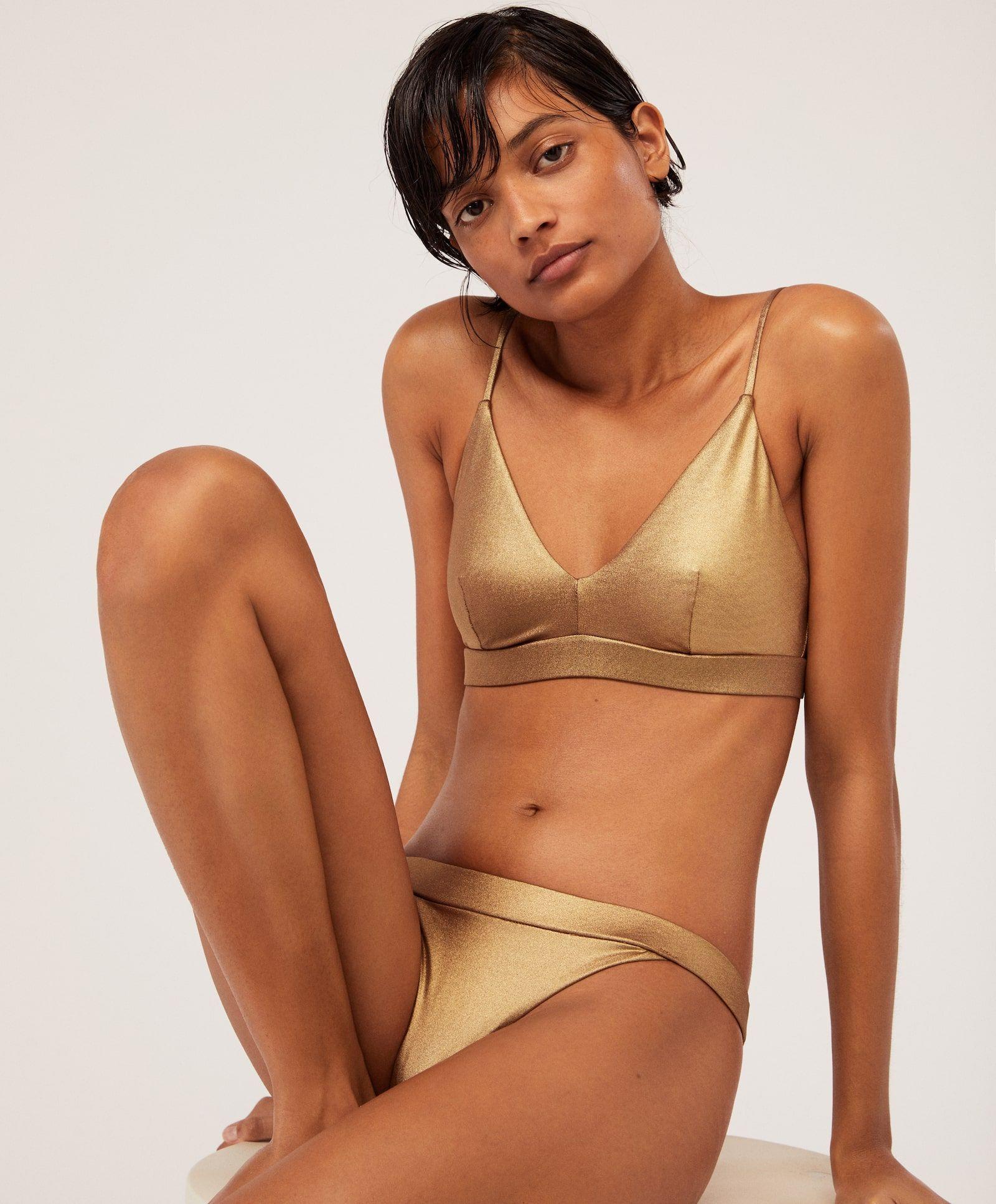 Online El Que Tienda Bikini Diseña Dorado Oysho Mejor Sienta De Su eE9Ib2YWDH