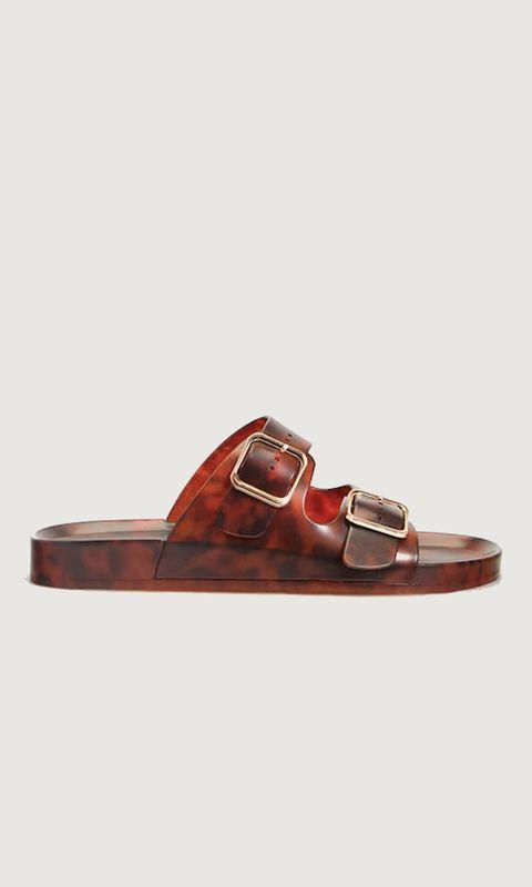 Footwear, Tan, Brown, Shoe, Buckle, Leather, Sandal, Maroon, Strap, Fashion accessory,