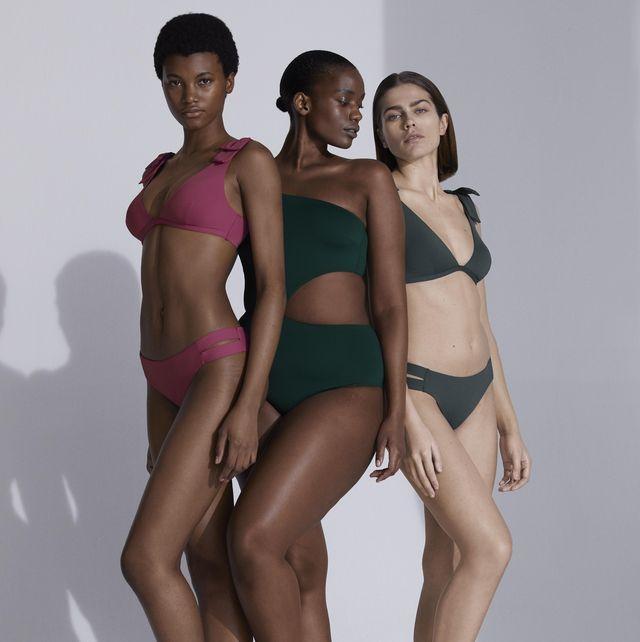 bañadores y bikinis sostenibles oysho tallas y cuerpos