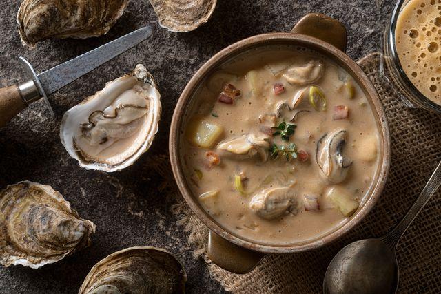 oyster stout chowder