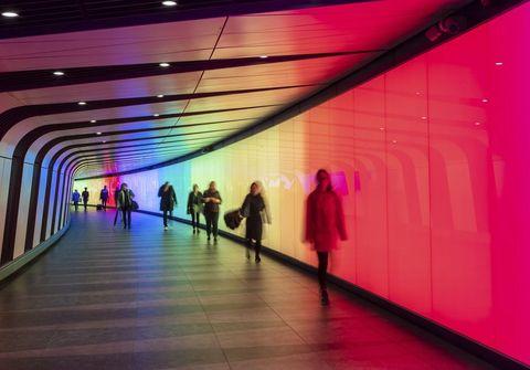 King's Cross's LED Light Tunnel