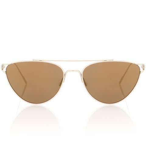 Eyewear, Sunglasses, Glasses, aviator sunglass, Personal protective equipment, Brown, Vision care, Beige, Goggles, Transparent material,
