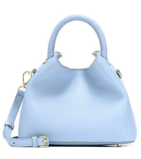 elleme baozi leather shoulder bag
