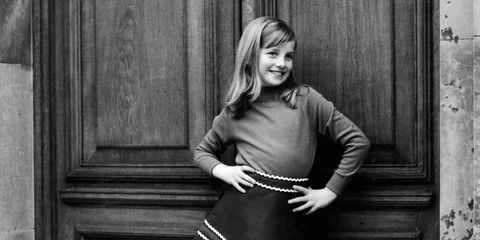 A photo from a private family album dated 1967–69 shows Diana posing cheekily as a young girl. Obviously a natural in front of the camera, she also had a keen sense of fashion from an early age.