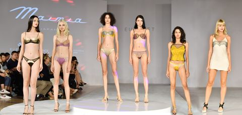 Fashion model, Fashion, Clothing, Fashion show, Model, Fashion design, Lingerie, Event, Runway, Long hair,