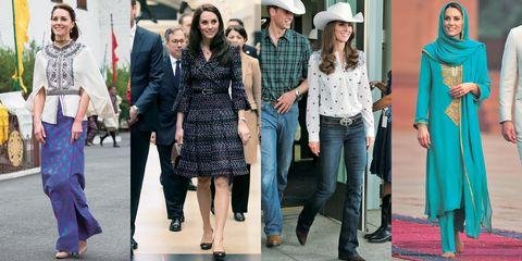 キャサリン妃の外遊ファッション