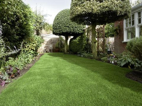 artificial grass on a lawn