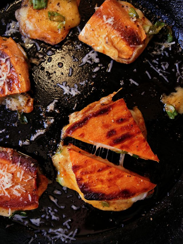 sweet potato grilled cheese  delishcom