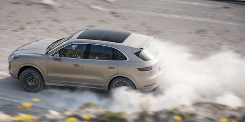 Watch the Porsche Cayenne Turbo S E-Hybrid SUV Lap a Swedish Track