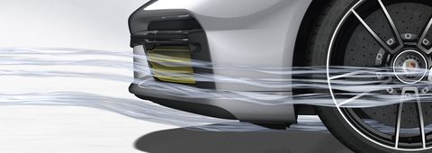 porsche's active aerodynamics system on the 911 turbo s