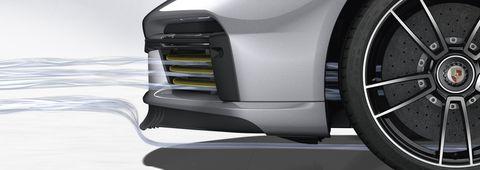 Porsche 911 Turbo S front lip spoiler