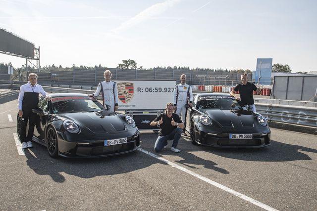 2022 porsche 911 gt3 nürburgring lap video