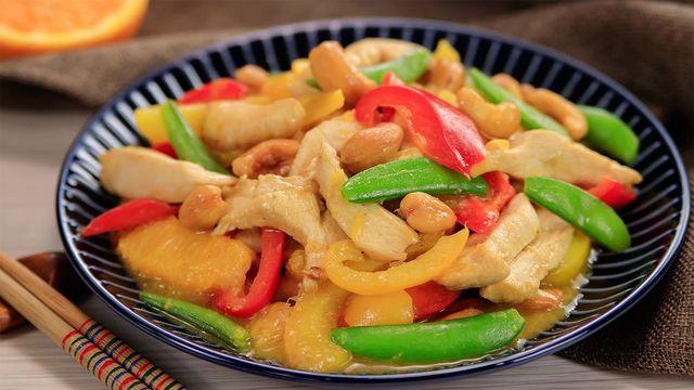 幸福文化 橙香鮮蔬炒雞柳