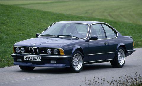 Land vehicle, Vehicle, Car, Personal luxury car, Bmw, Regularity rally, Bmw 6 series (e24), Coupé, Classic car, Sedan,