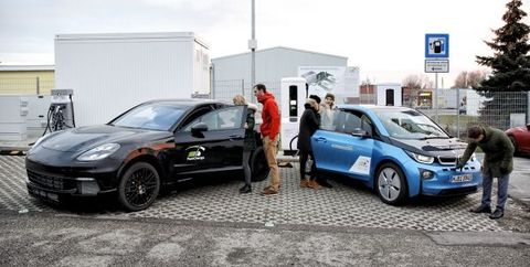 Joint BMW/Porsche project high-power (up to 450 kW) charging station operating in Germany.