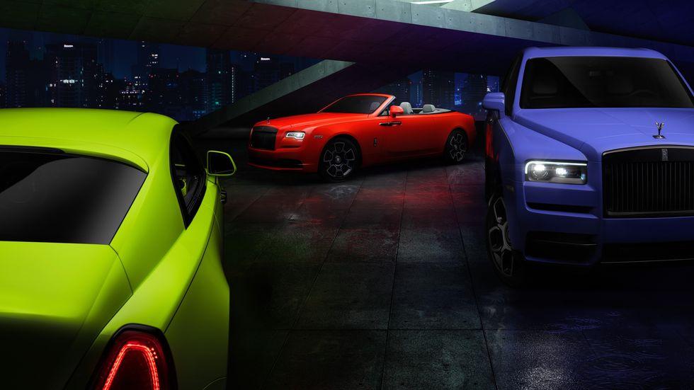 Rolls-Royce 'Neon Nights': La colección más llamativa y exclusiva