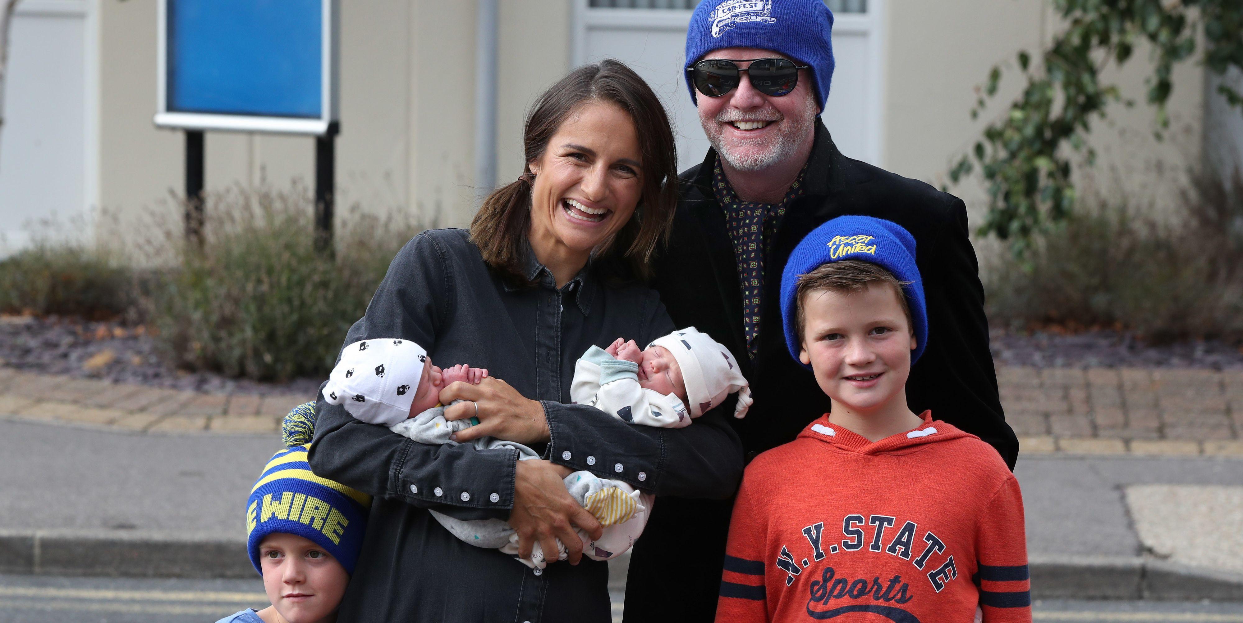 Chris Evans reveals twins baby names
