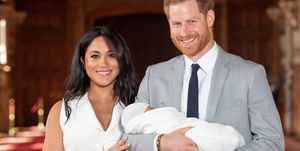 Meghan and Harry first glimpse of their Royal baby