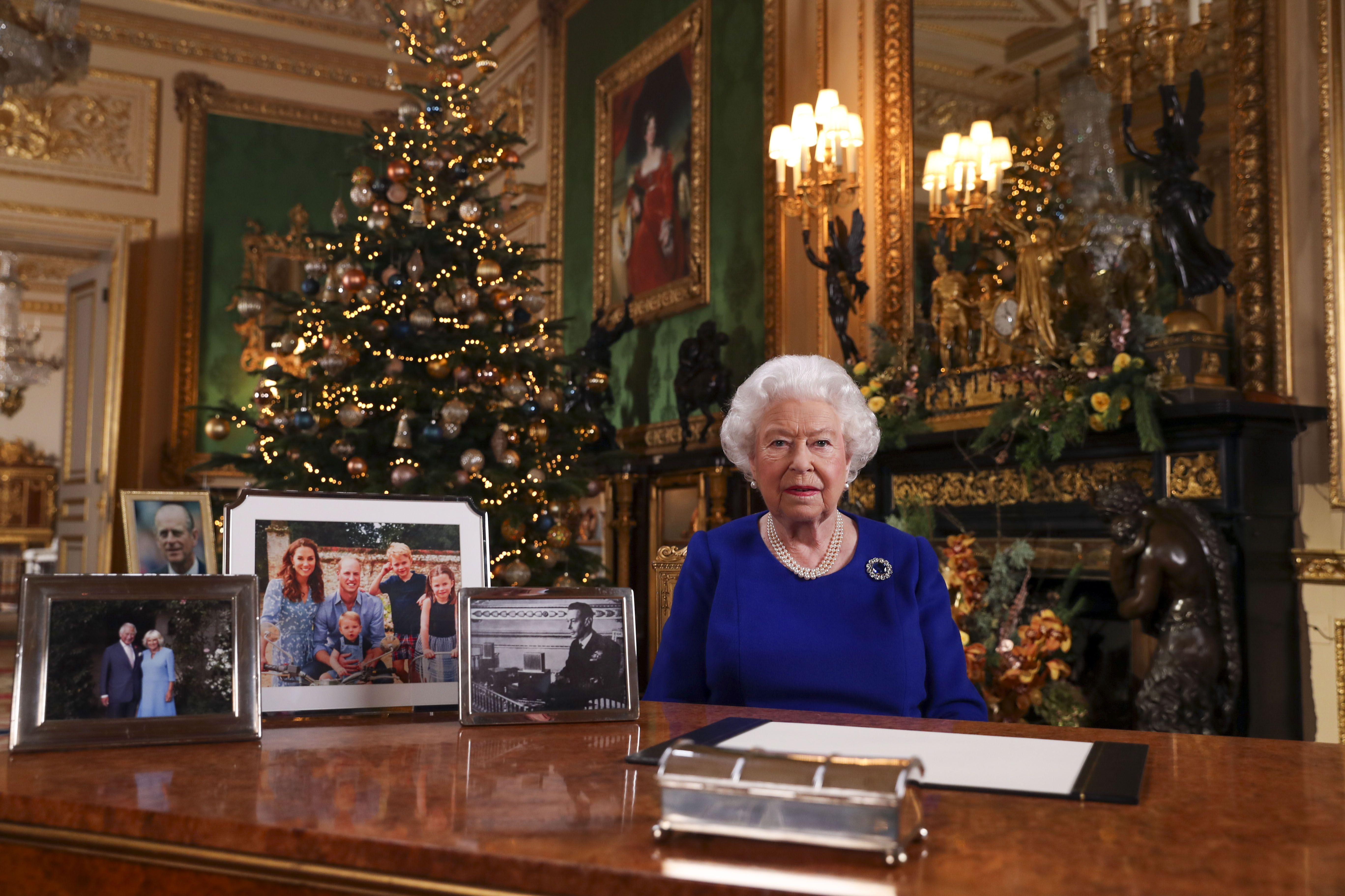 Harry and Meghan Absent from Queen's Christmas Address Photo