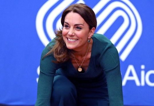 Kate Middleton Chose a Green Athleisure Look for a Sporty Public Appearance This Morning