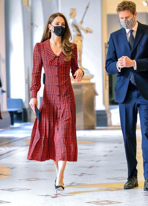 kate middleton va red dress